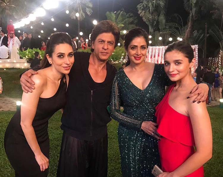 Shah Rukh Khan with various leading ladies of his films