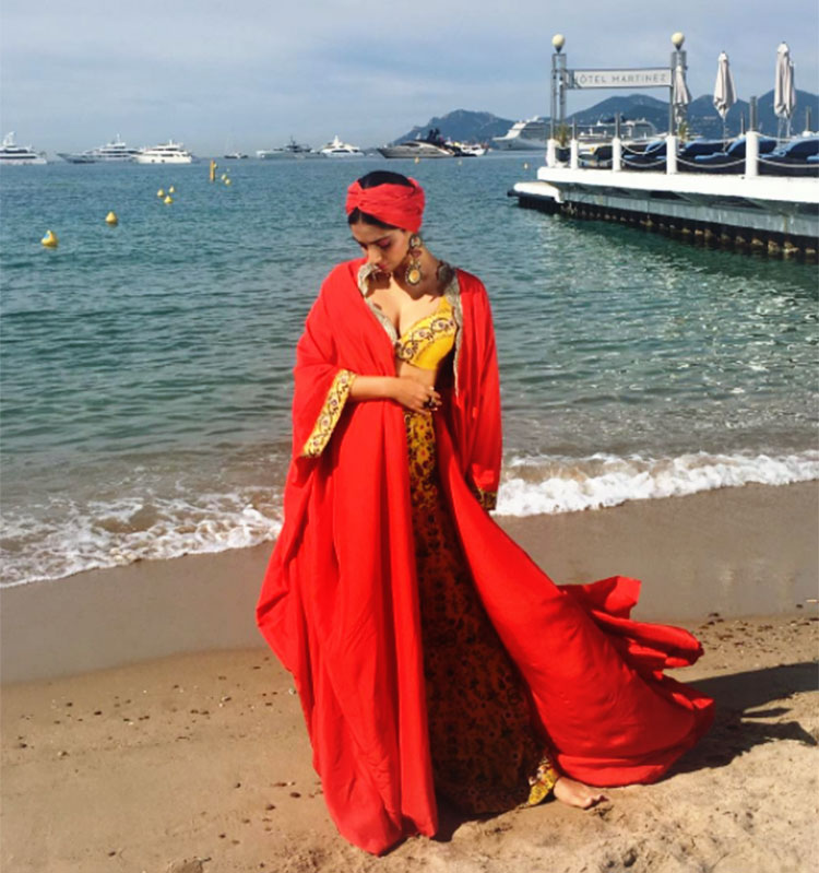 Sonam Kapoor dons the Bohemian look for Cannes day 2