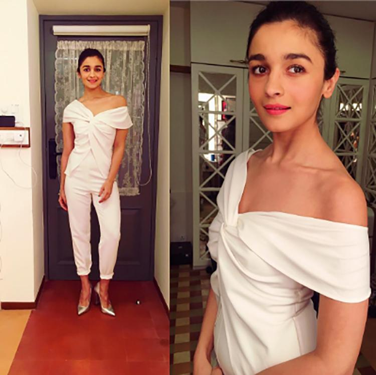 Alia Bhatt makes this all white jumpsuit look super-chic