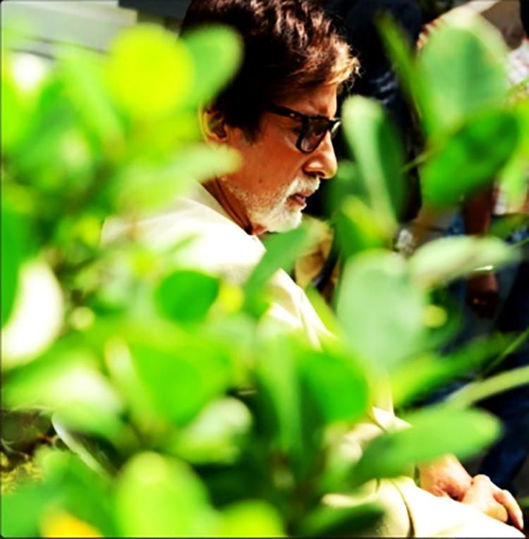 Amitabh Bachchan seems to be relishing some peaceful moments in this candid pic