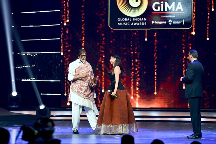 Amitabh Bachchan at sixth Global Indian Music Academy Awards