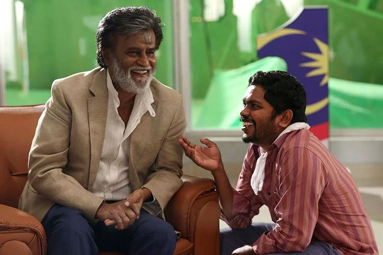 Rajinikanth shares a candid moment with Pa Ranjith