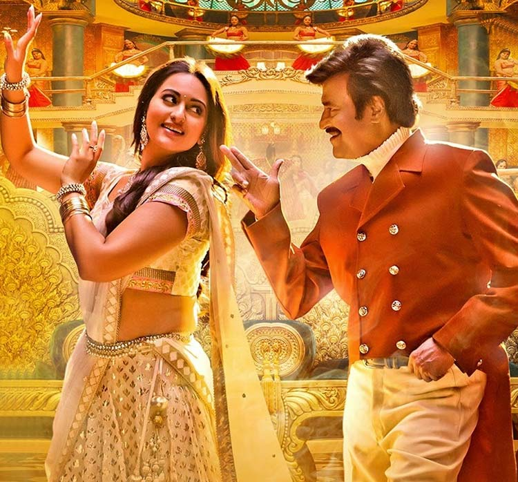 Rajinikanth with Sonakshi Sinha in Lingaa