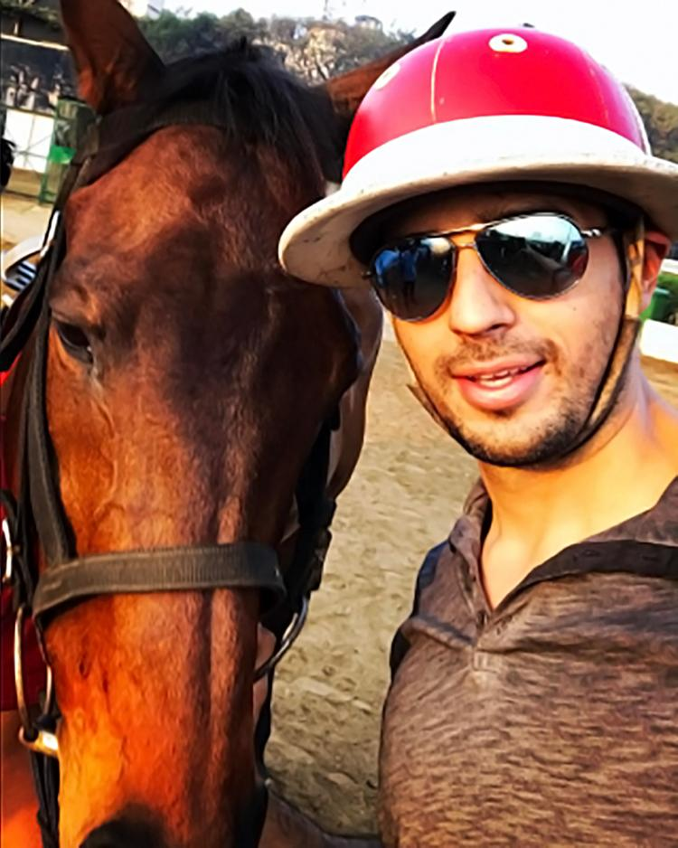 Sidharth Malhotra shares glimpses of his horse-riding session on Instagram