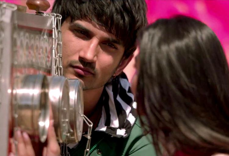 Sushant Singh Rajput in a still from Shuddh Desi Romance