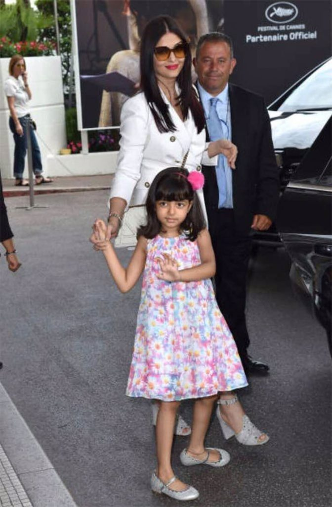 Aishwarya Rai and Aaradhya at Cannes 2017
