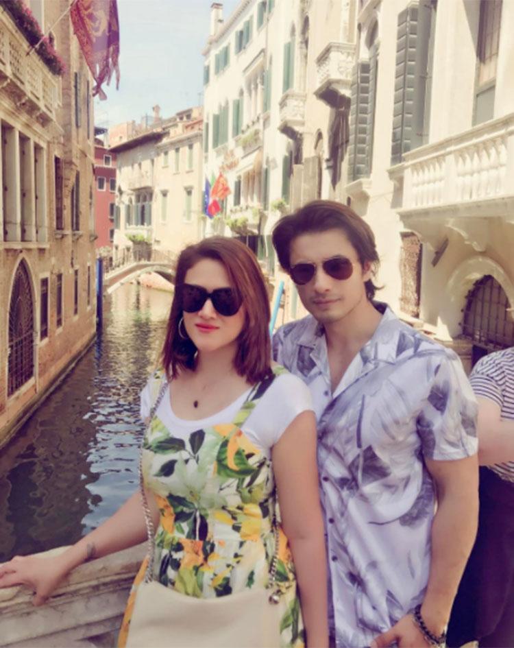 Ali Zafar with his wife Ayesha Fazli in Venice