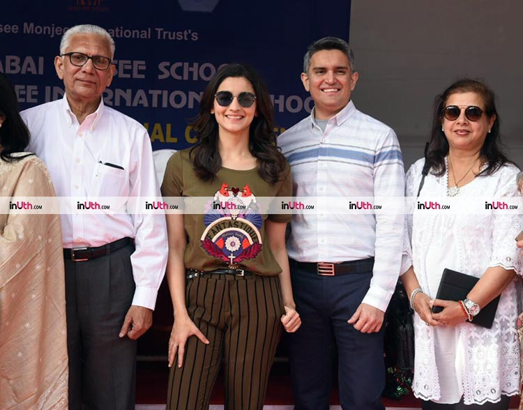Alia Bhatt at Jamnabai Narsee School in Mumbai