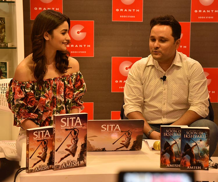 Alia Bhatt in a conversation with Amish Tripathi