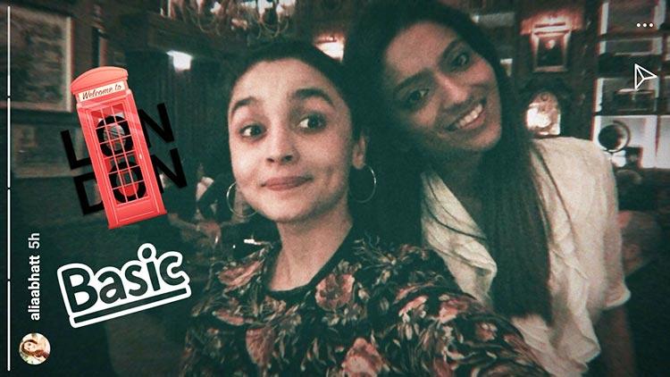 Alia Bhatt with her sister Shaheen Bhatt