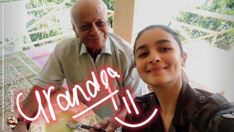 Alia Bhatt's cute photo with her grandfather from her personal album