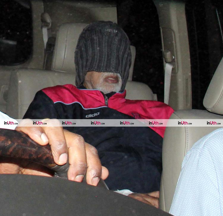Amitabh Bachchan snapped upon his discharge from Lilavati hospital on February 9