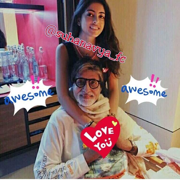 Amitabh Bachchan with granddaughter Navya Naveli Nanda
