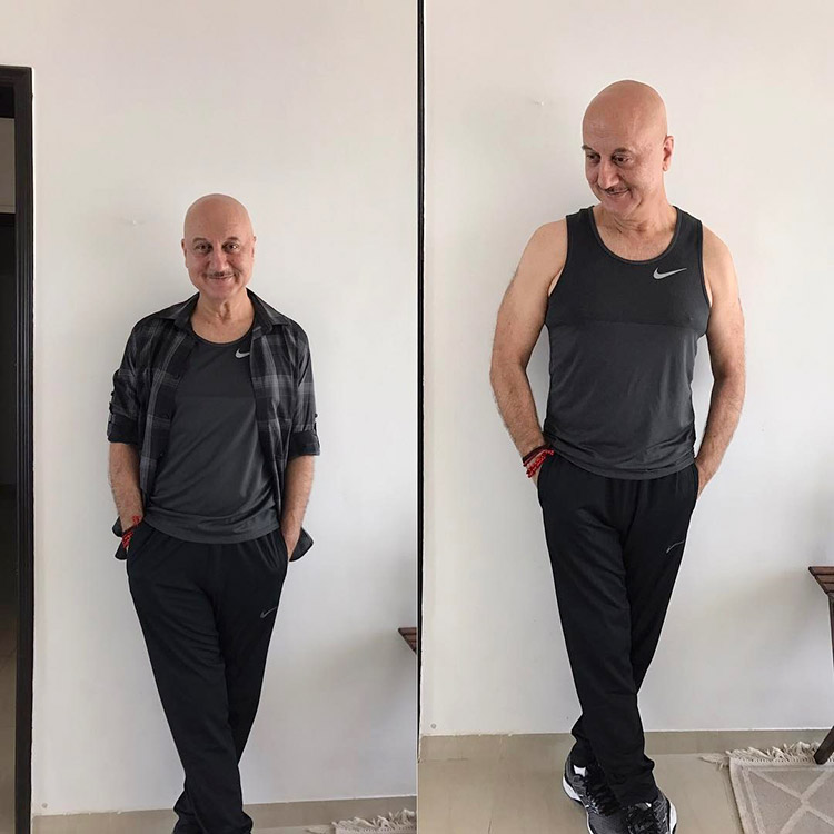Anupam Kher's fabulous weight loss