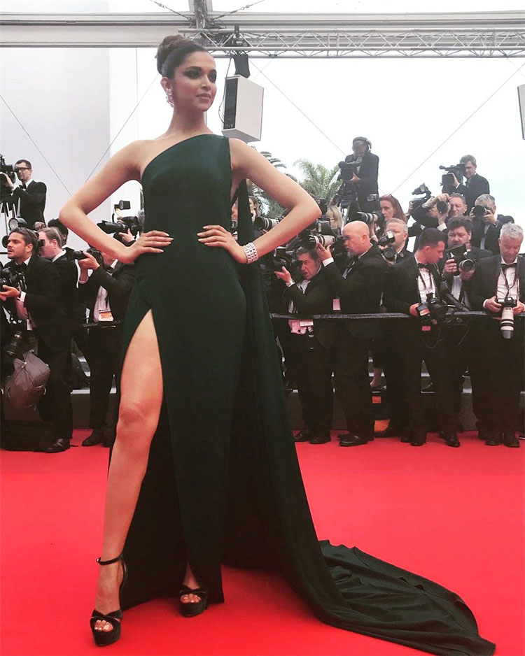 Deepika Padukone on the red carpet of Cannes 2017