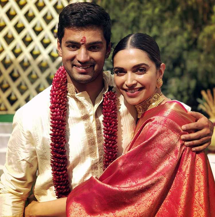 Deepika Padukone with her childhood friend Aditya Narayan