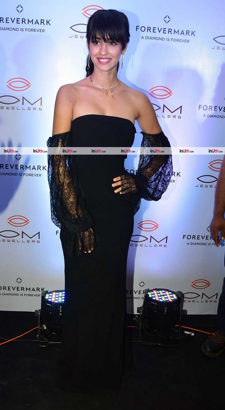 Disha Patani in a black gown for a launch event