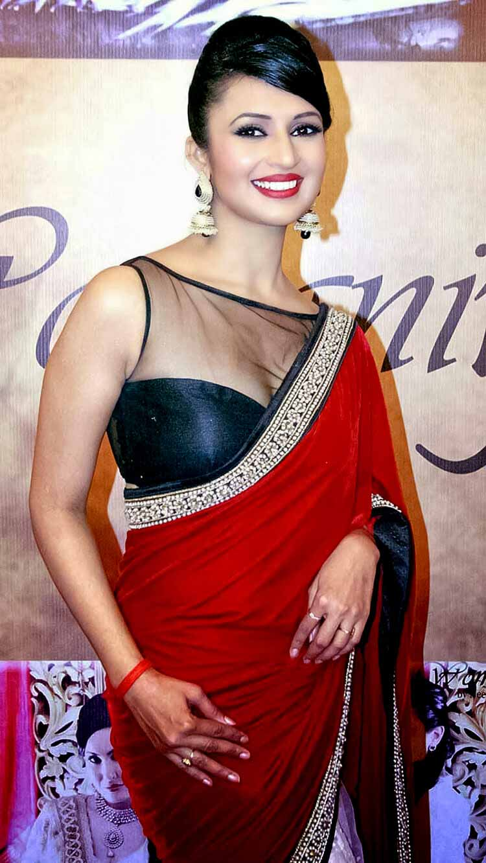 Divyanka Tripathi in a hot red saree