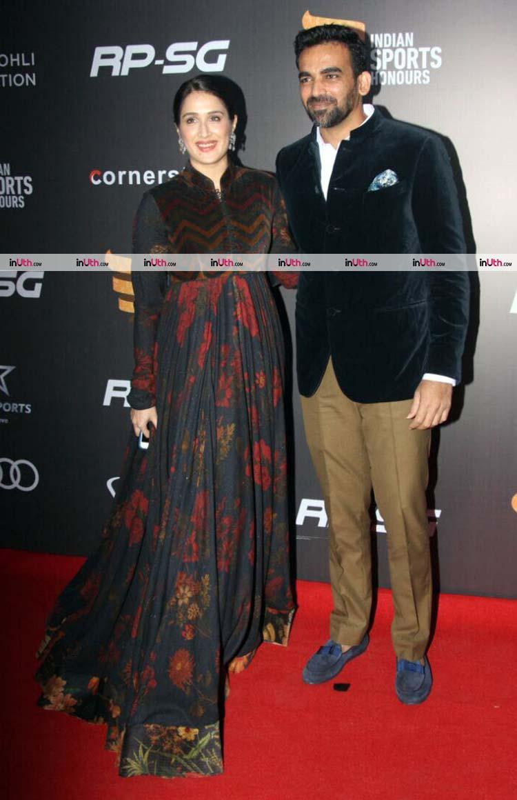 Sagarika Ghatge and Zaheer Khan snapped at the red carpet
