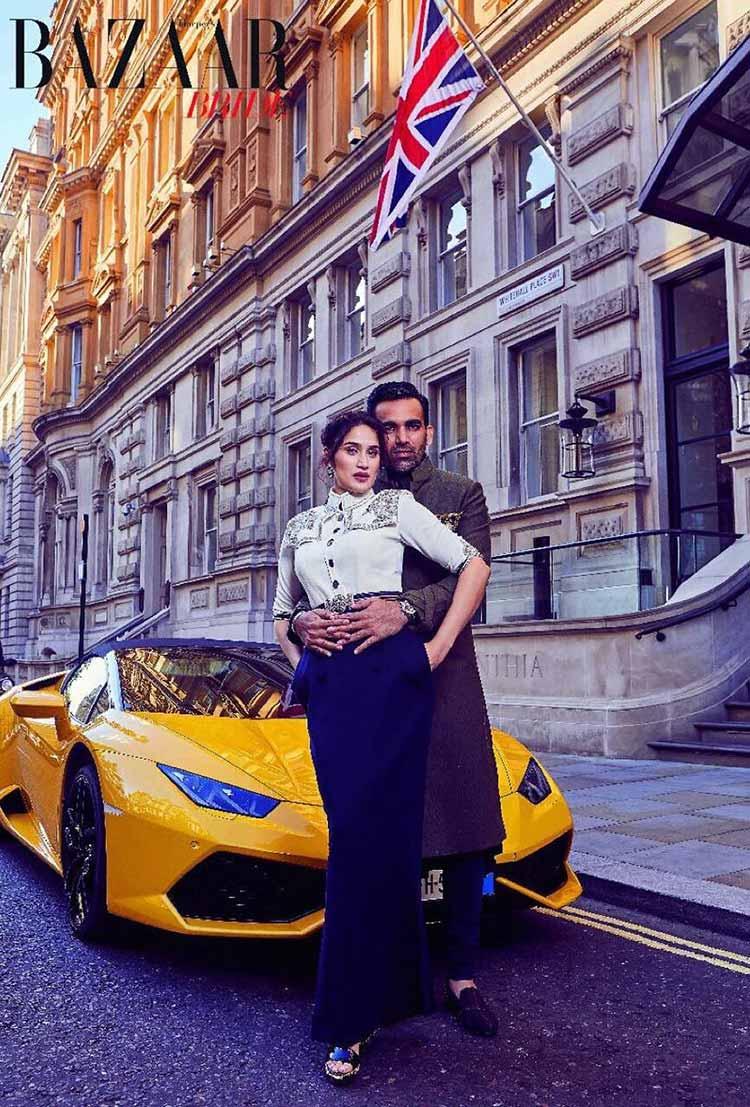 Sagarika Ghatge and Zaheer Khan's hot magazine photoshoot