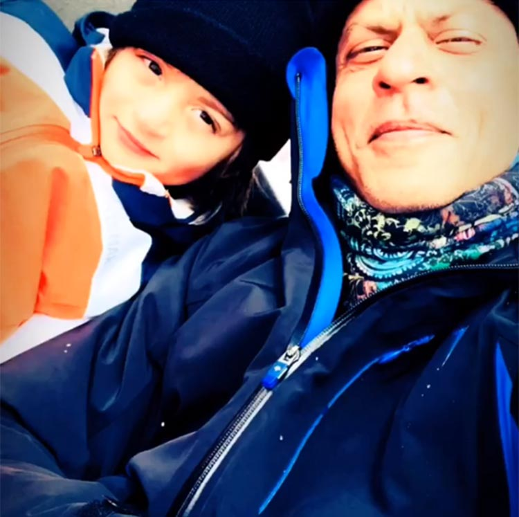 Shah Rukh Khan and AbRam in the Alps enjoying their family-time