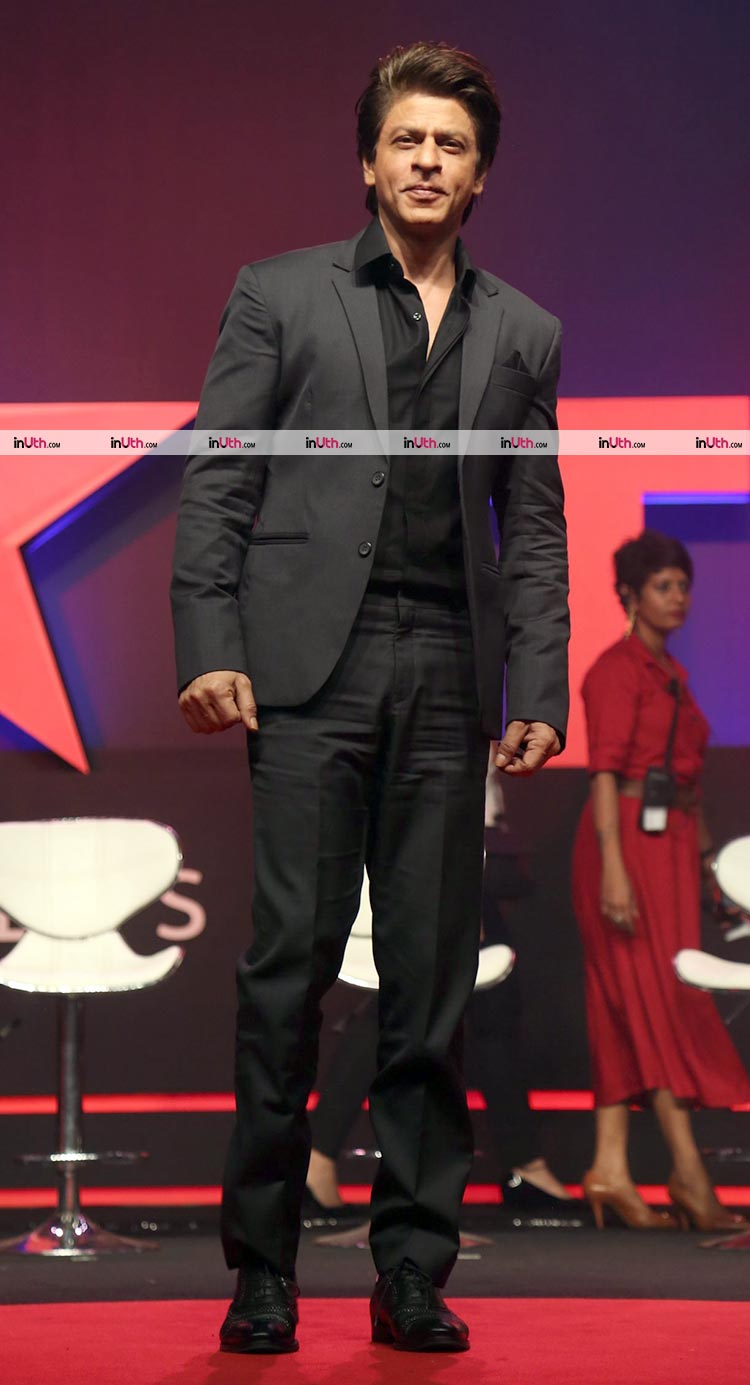 Shah Rukh Khan snapped at the launch of TED Talks India