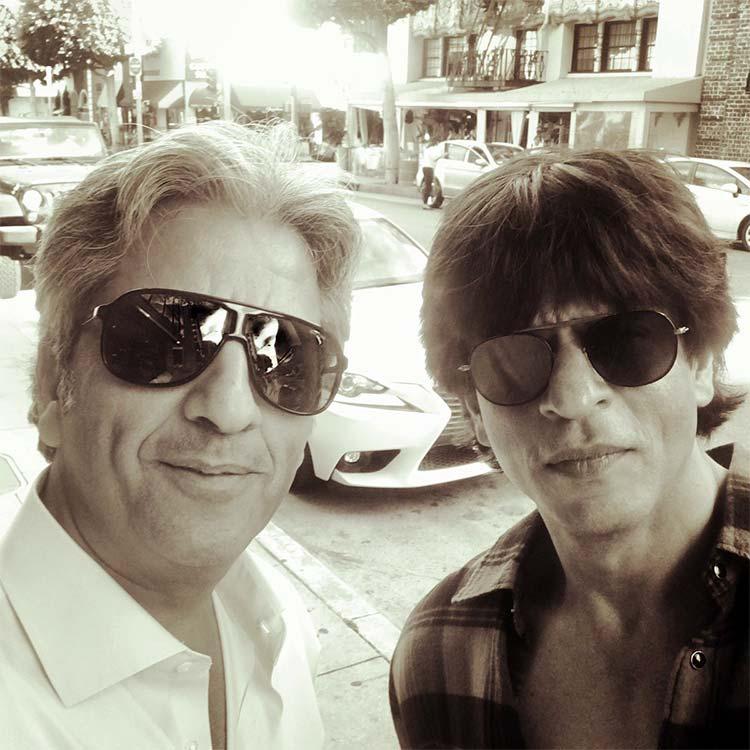 Shah Rukh Khan with Californian architect Tony Ashai