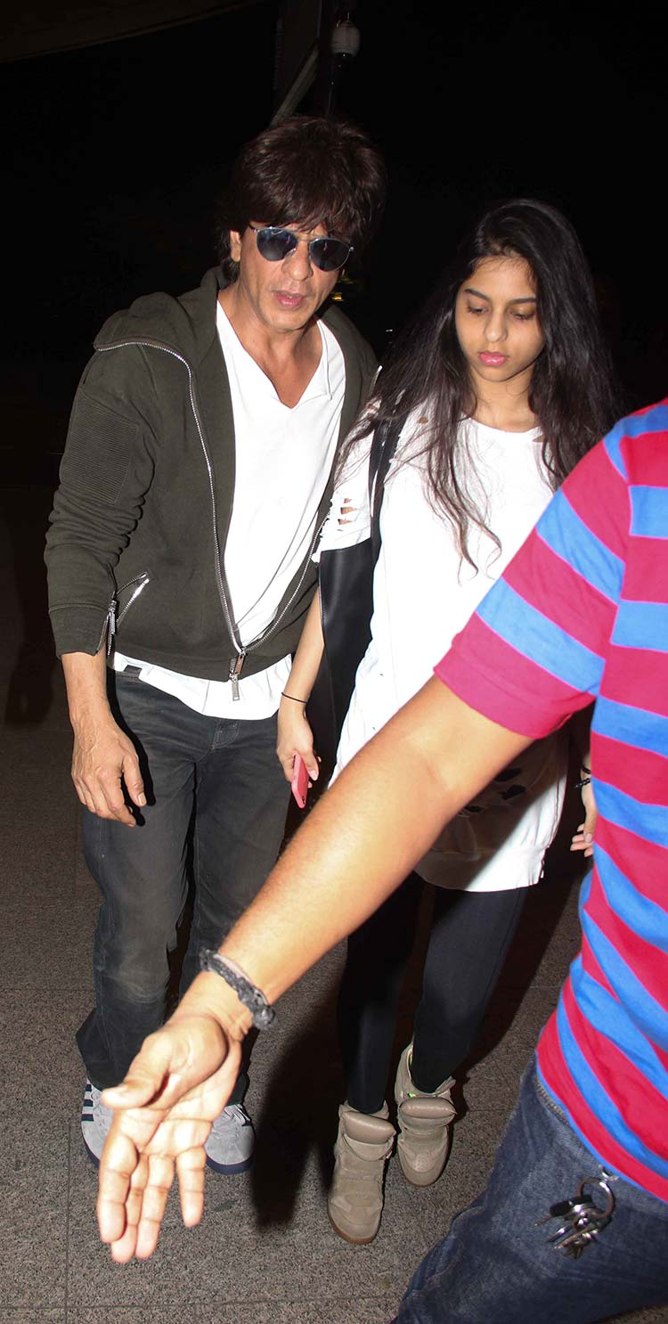 Shah Rukh Khan with his daughter Suhana