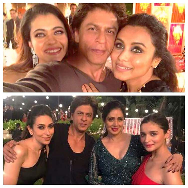 Shah Rukh Khan's Instagram post with the Bollywood beauties
