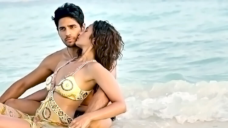 Alia Bhatt in a beach shoot with Siddharth Malhotra