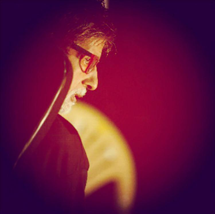 Amitabh Bachchan shared this photo from Kaun Banega Crorepati sets on Instagram