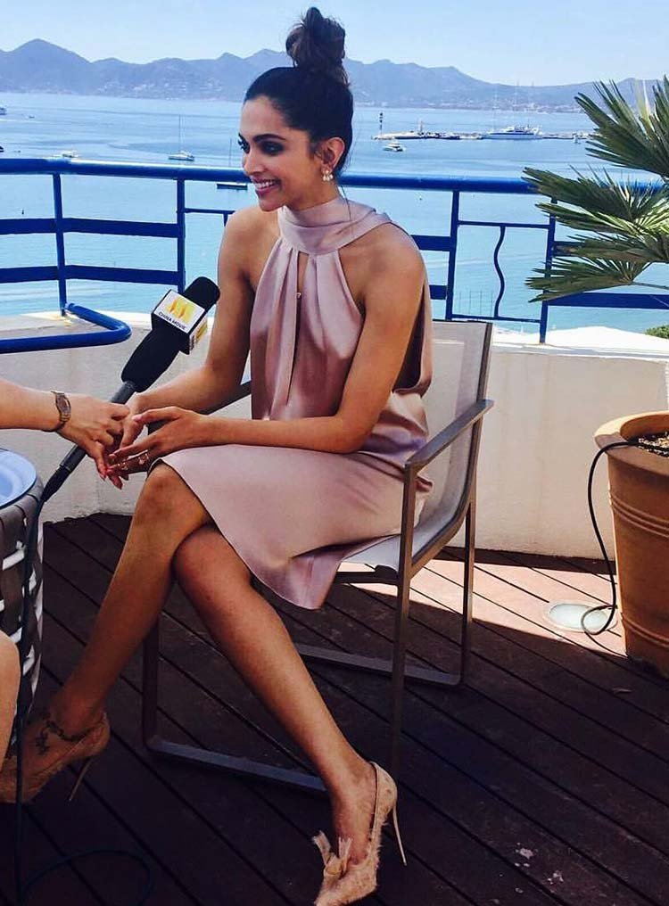 Deepika Padukone gets candid during interview at Cannes