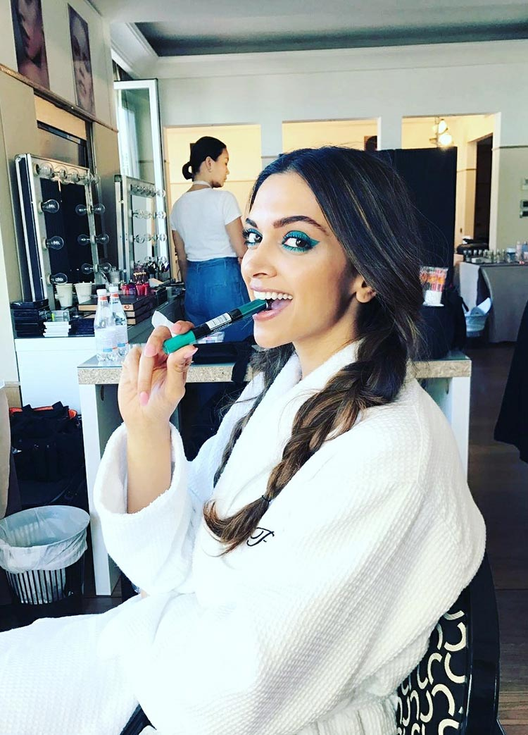 Deepika Padukone getting ready for Cannes 2017