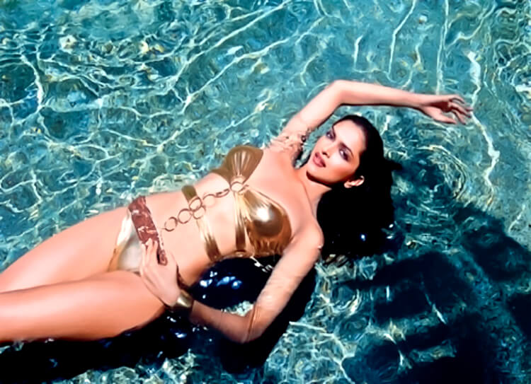 Gold and beautiful Deepika Padukone in Bikini