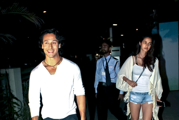 Disha Patani caught candid with alleged beau Tiger Shroff