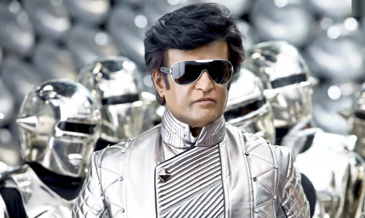 Rajinikanth as Chitti in Enthiran