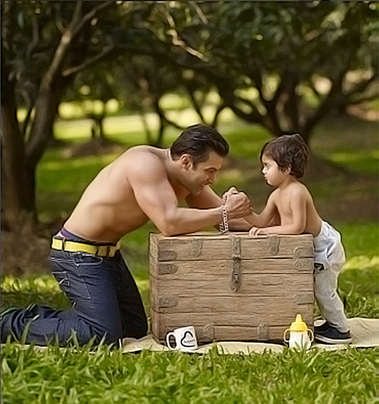 Salman Khan in a candid moment with nephew Yohan