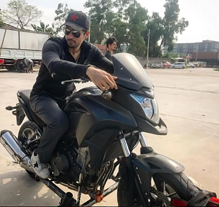 Candid photo of biker boy Sidharth