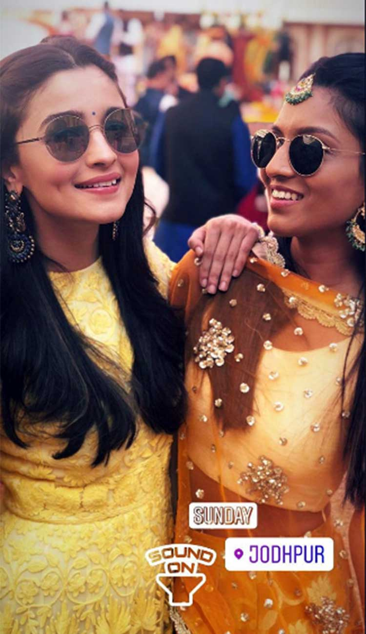 Alia Bhatt with a friend at Kripa Mehta's wedding