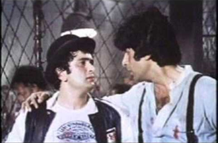 Amitabh Bachchan and Rishi Kapoor in a still from Naseeb