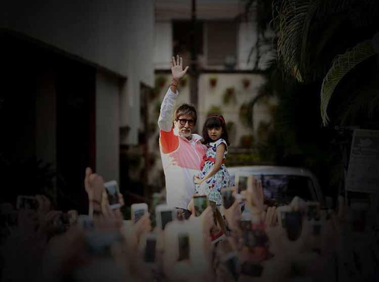 Amitabh Bachchan's Sunday darshan with Aaradhya Bachchan