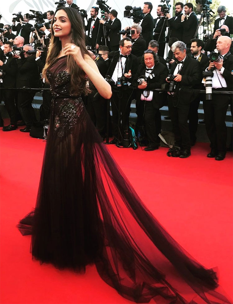 Deepika Padukone made a stunning red carpet appearance on Cannes day 1