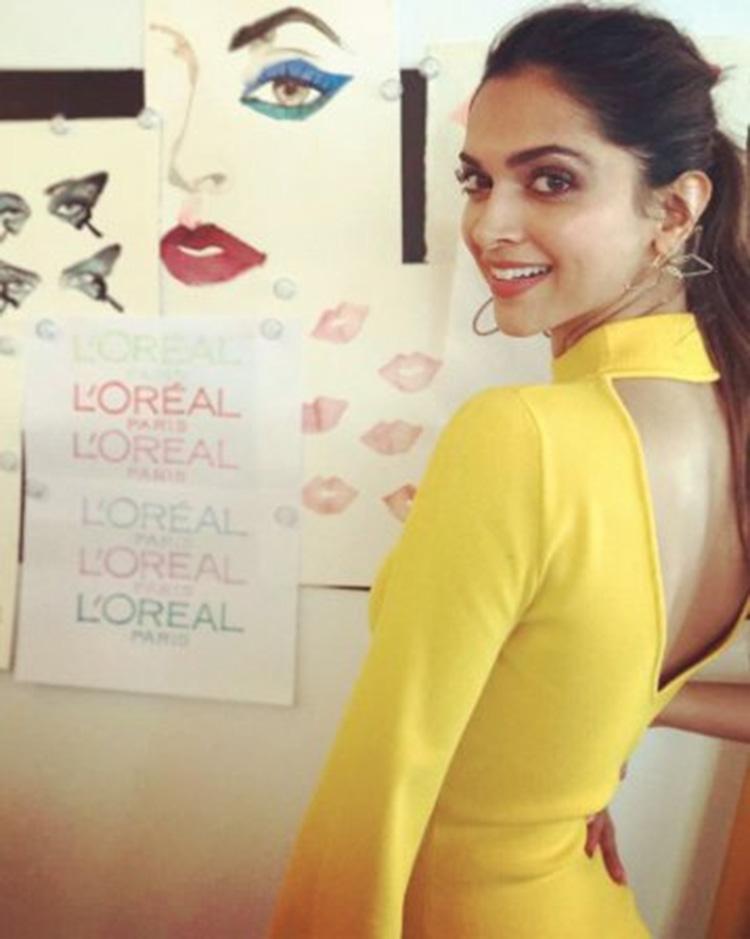 Deepika Padukone striking a pose at Cannes