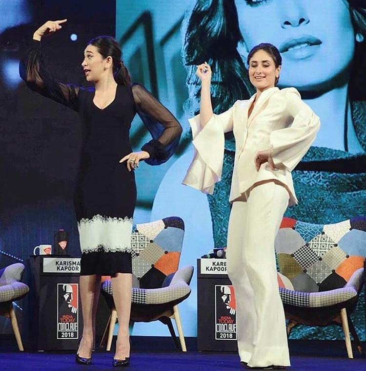 Kareena and Karisma Kapoor shaking a leg