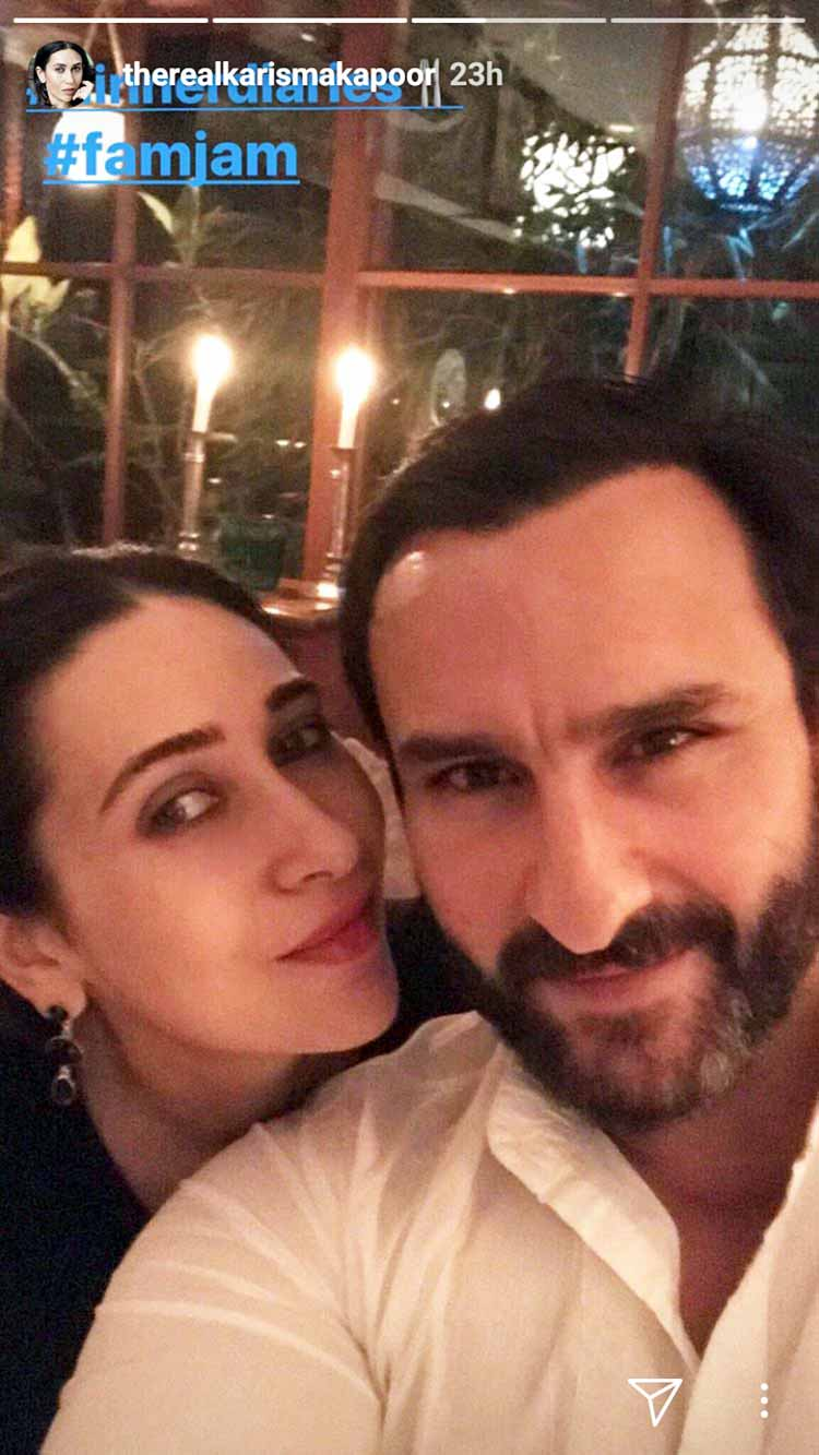 Karisma Kapoor with Saif Ali Khan