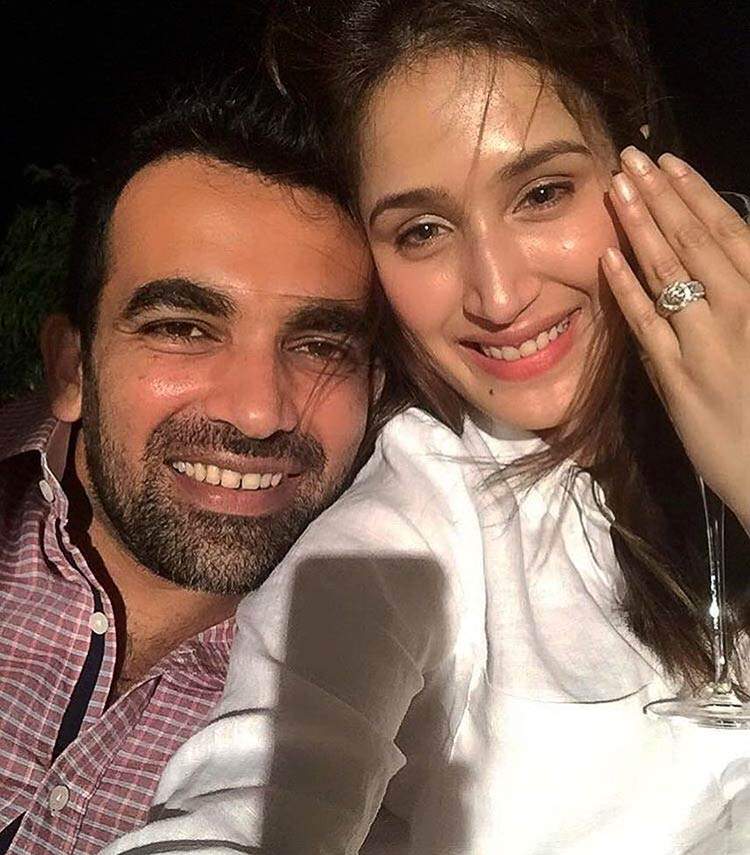 Sagarika Ghatge announcing her engagement with Zaheer Khan