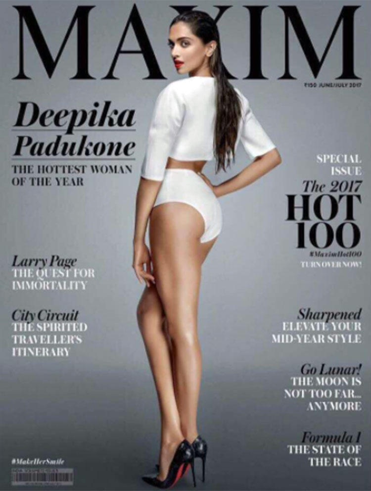 Sexy Deepika Padukone sizzles the Maxim cover