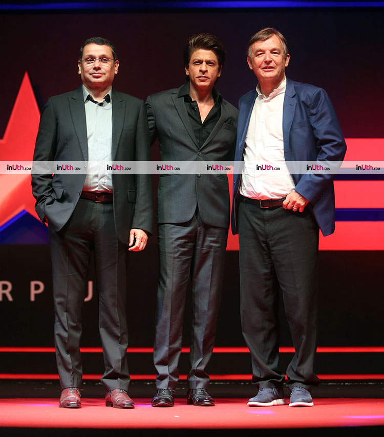 Shah Rukh Khan with Star TV officials at the launch of TED Talks India