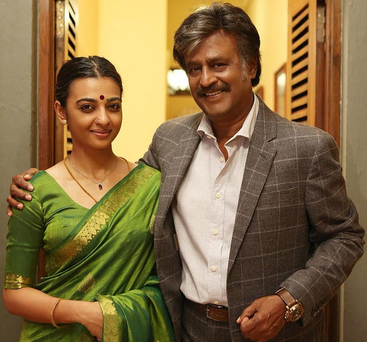 Rajinikanth with Radhika Apte in Kabali