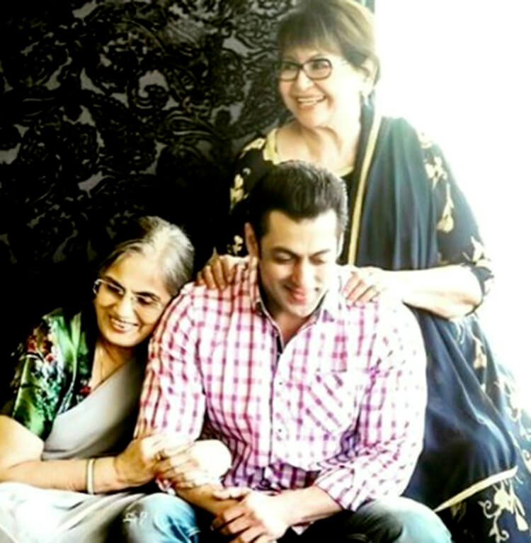This photo of Salman Khan with his mothers from his personal gallery is bliss